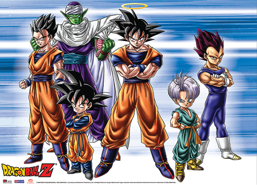 Dragon Ball Z Group Fabric Poster officially licensed product at B.A. Toys.