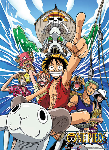 One Piece The Straw Hat Pirates Fabric Poster officially licensed One Piece Posters product at B.A. Toys.