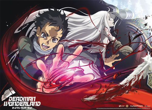 Deadman Wonderland Ganta & Shiro Fabric Poster, an officially licensed Deadman Wonderland Poster