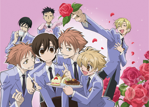 Ouran High School Host Club Group Dessert Fabric Poster, an officially licensed product in our Ouran High School Host Club Posters department.