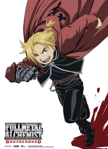 Fullmetal Alchemist Brotherhood Elric Fabric Poster officially licensed Fullmetal Alchemist Posters product at B.A. Toys.