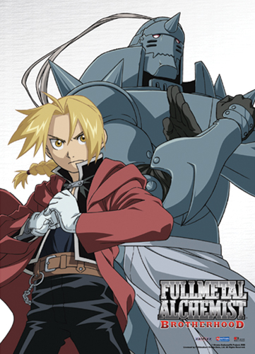 Fullmetal Alchemist Brotherhood Elric Brothers Fabric Poster officially licensed Fullmetal Alchemist Posters product at B.A. Toys.