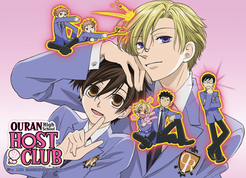 Ouran Highschool Host Club Group Fabric Poster, an officially licensed product in our Ouran High School Host Club Posters department.