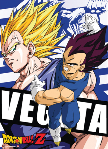 Dragon Ball Z - Vegeta Fabric Poster officially licensed product at B.A. Toys.