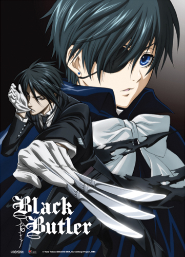 Black Butler - Key Visual 2 Fabric Poster, an officially licensed product in our Black Butler Posters department.