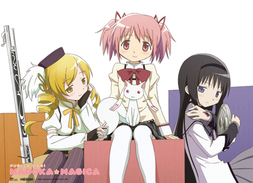 Madoka Magica 3 Girls Fabric Poster, an officially licensed product in our Madoka Magica Posters department.