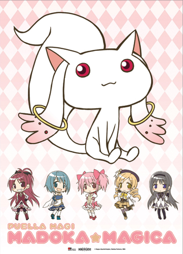 Madoka Magica Kyubei Fabric Poster officially licensed Madoka Magica Posters product at B.A. Toys.