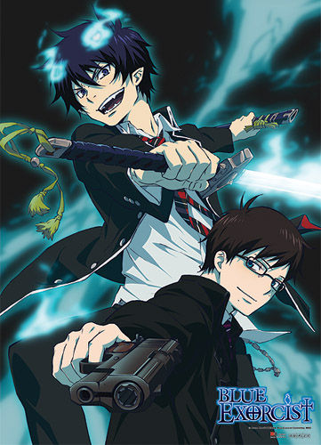 Blue Exorcist Rin & Yukio Fabric Poster officially licensed Blue Exorcist Posters product at B.A. Toys.