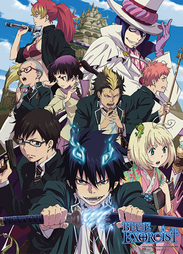 Blue Exorcist True Cross Academy Fabric Poster officially licensed Blue Exorcist Posters product at B.A. Toys.