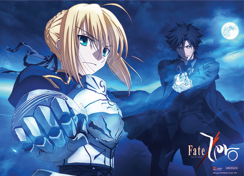 Fate/zero Kiritsugu & Saber Fabric Poster, an officially licensed Fate/Zero product at B.A. Toys.