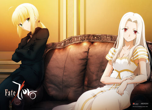Fate/zero Saber & Irisviel Fabric Poster, an officially licensed Fate Zero Poster
