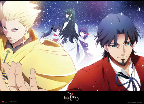 Fate/zero Archer & Tokiomi Fabric Poster, an officially licensed Fate Zero Poster