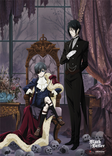 Black Butler Ciel With Cloak Fabric Poster, an officially licensed product in our Black Butler Posters department.