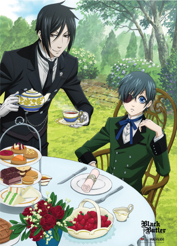 Black Butler Sebastain & Ciel Dining Fabric Poster, an officially licensed Black Butler product at B.A. Toys.