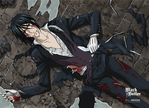 Black Butler Wounded Butler Fabric Poster, an officially licensed Black Butler Poster