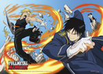Full Metal Alchemist - Ed Vs. Roy Fabric Poster officially licensed Fullmetal Alchemist Posters product at B.A. Toys.