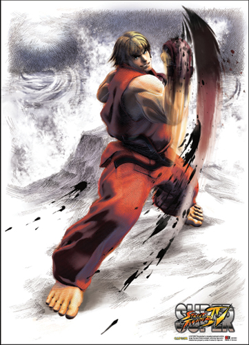 Super Street Fighter Iv Ken Fabric Poster, an officially licensed product in our Super Street Fighter Posters department.