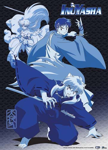 Inuyasha Inuyasha, Miroku, & Sesshomaru Fabric Poster, an officially licensed product in our Inuyahsa Posters department.