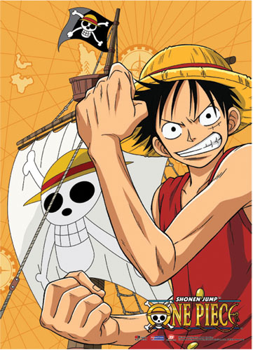 One Piece Luffy Fabric Poster officially licensed One Piece Posters product at B.A. Toys.