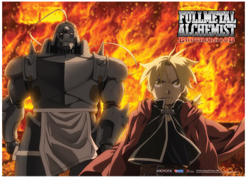 Fullmetal Alchemist Brotherhood Fire Fabric Poster, an officially licensed product in our Fullmetal Alchemist Posters department.