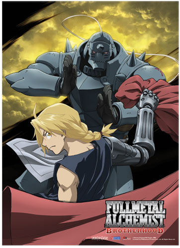 Fullmetal Alchemist Brotherhood Moon Fabric Poster officially licensed Fullmetal Alchemist Posters product at B.A. Toys.