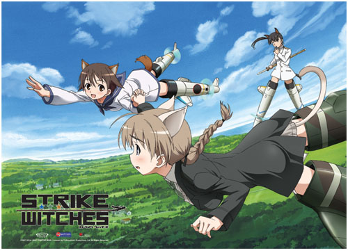 Strike Witches - Flying In The Sky Fabric Poster, an officially licensed product in our Strike Witches Posters department.
