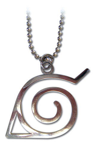 Naruto Leaf Symbol Necklace, an officially licensed product in our Naruto Jewelry department.