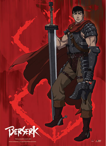 Berserk - Guts Fabric Poster, an officially licensed product in our Berserk Posters department.