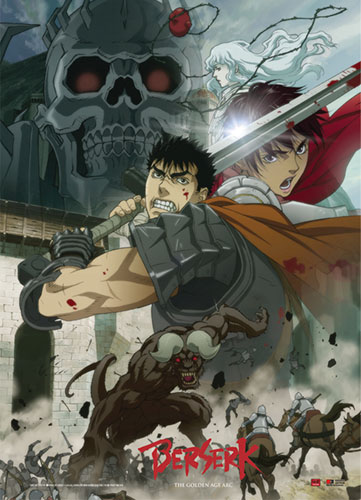 Berserk - Battle Scene Fabric Poster, an officially licensed Berserk product at B.A. Toys.