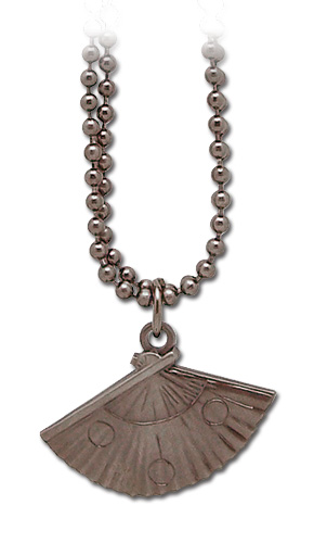 Naruto Shippuden Teman's Fan Necklace, an officially licensed product in our Naruto Shippuden Jewelry department.