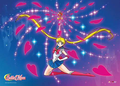Sailor Moon - Moon Spiral Heart Attack Fabric Poster, an officially licensed product in our Sailor Moon Posters department.