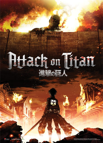 Attack On Titan - Key Art Fabric Poster, an officially licensed Attack on Titan Poster