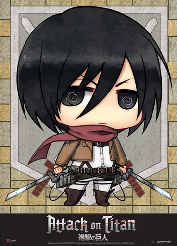 Attack On Titan - Sd Mikasa Fabric Poster, an officially licensed Attack on Titan Poster