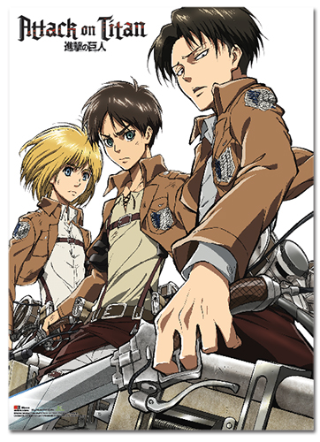 Attack On Titan - Key Art 18 Fabric Poster, an officially licensed product in our Attack On Titan Posters department.