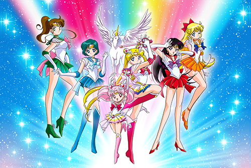 Sailor Moon - Group Paper Poster, an officially licensed product in our Sailor Moon Posters department.