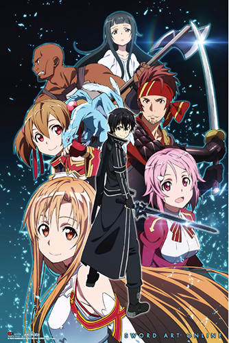 Sword Art Online - Group Paper Poster, an officially licensed product in our Sword Art Online Posters department.
