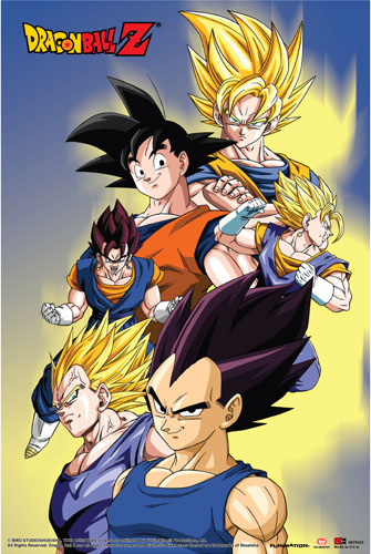 Dragon Ball Z - Goku, Vegeta, Vegito Paper Poster, an officially licensed product in our Dragon Ball Z Posters department.