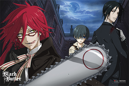 Black Butler - Sebastian And Ciel V.S. Grell Paper Poster, an officially licensed product in our Black Butler Posters department.