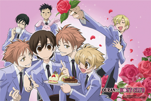 Ouran High School Host Club - Flower Group Paper Poster, an officially licensed product in our Ouran High School Host Club Posters department.
