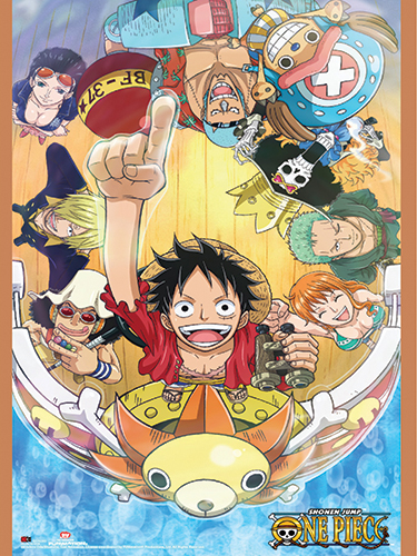 One Piece - Thousand Sunny Group Paper Poster, an officially licensed product in our One Piece Posters department.