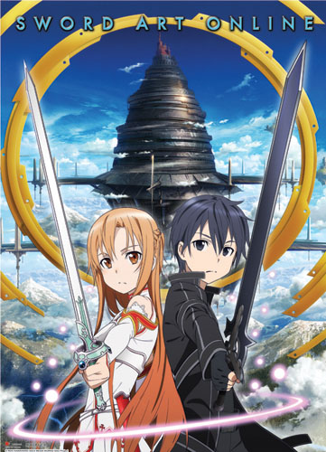 Sword Art Online - Kirito And Asuna Fabric Poster, an officially licensed product in our Sword Art Online Posters department.