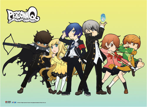 Persona Q - Line Up Fabric Poster, an officially licensed product in our Persona Posters department.
