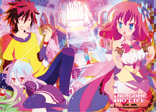 No Game No Life - Playing Cards Fabric Poster, an officially licensed product in our No Game No Life Posters department.