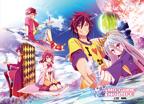 No Game No Life - Chess Fabric Poster, an officially licensed product in our No Game No Life Posters department.