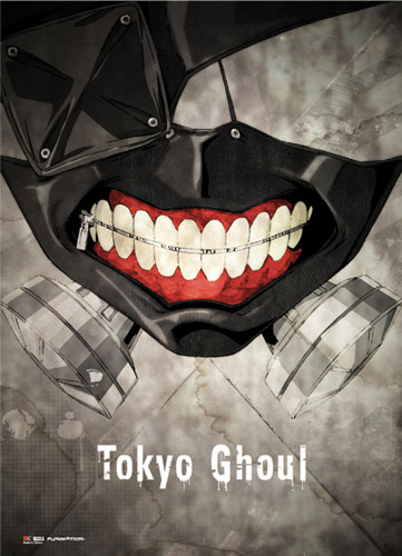 Tokyo Ghoul - Kaneki Mask Fabric Poster, an officially licensed product in our Tokyo Ghoul Posters department.
