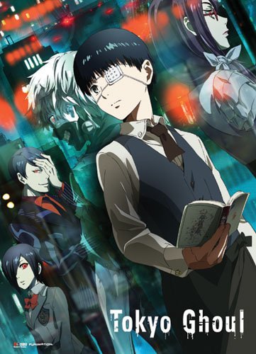 Tokyo Ghoul - Kaneki & Ghouls Fabric Poster, an officially licensed product in our Tokyo Ghoul Posters department.
