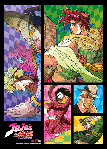 Jojo - Caesar & Joseph Fabric Poster, an officially licensed product in our Jojo'S Bizarre Adventure Posters department.
