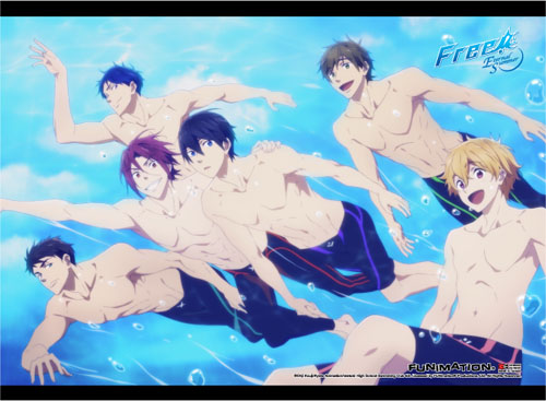 Free! 2 - Group 2 Fabric Poster, an officially licensed product in our Free! Posters department.