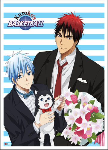 Kuroko's Basketball - Kuroko Kagami & Tetsuya #2 Fabric Poster, an officially licensed product in our Kuroko'S Basketball Posters department.