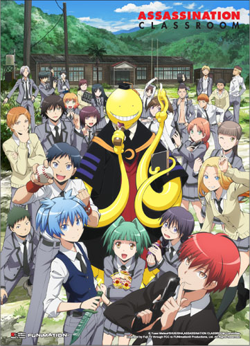 Assassination Classroom - Key Art 1 Fabric Poster, an officially licensed product in our Assassination Classroom Posters department.